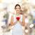 愛する · 女性 · 赤 · 中心 · 肖像 · かわいい - ストックフォト © dolgachov