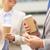 zakenlieden · koffie · silhouet · asian · vergadering - stockfoto © dolgachov