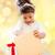 dziewczyna · otwarcie · szkatułce · happy · girl · kobieta · szczęśliwy - zdjęcia stock © dolgachov