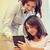 kislány · tanár · táblagép · iskola · oktatás · általános · iskola - stock fotó © dolgachov