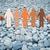 hands holding people pictogram over stone desert stock photo © dolgachov