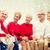 улыбаясь · дома · семьи · праздников · поколение · Рождества - Сток-фото © dolgachov