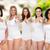 groep · gelukkig · verschillend · vrouwen · wijzend · keuze - stockfoto © dolgachov