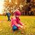 dwa · dzieci · pozostawia · drzewo - zdjęcia stock © dolgachov