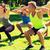 group of friends or sportsmen exercising outdoors stock photo © dolgachov
