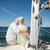 zeil · boot · jacht · zee - stockfoto © dolgachov