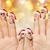 vingers · gezichten · bruiloft · familie - stockfoto © dolgachov