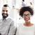 boldog · afrikai · nő · kreatív · csapat · iroda - stock fotó © dolgachov