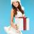 santa helper girl in lingerie with gift box stock photo © dolgachov