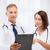 dois · médicos · escrita · prescrição · saúde · médico - foto stock © dolgachov