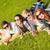 grupo · adolescentes · colgante · fuera · verano · vacaciones - foto stock © dolgachov