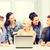 международных · студентов · глядя · ноутбука · школы · образование - Сток-фото © dolgachov