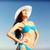kız · bikini · ayakta · plaj · yaz · tatil - stok fotoğraf © dolgachov