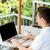 empresário · laptop · terraço · pessoas · de · negócios · tecnologia - foto stock © dolgachov