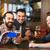 мужчины · друзей · смартфон · питьевой · пива · Бар - Сток-фото © dolgachov