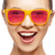 happy teenage girl in shades stock photo © dolgachov