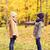 bambini · raccolta · foglie · autunno · parco · infanzia - foto d'archivio © dolgachov