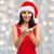 美人 · サンタクロース · 帽子 · 空っぽ · 手 - ストックフォト © dolgachov