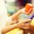 mercearia · compras · mulher · jovem · telefone · móvel · supermercado · mulher - foto stock © dolgachov