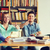 studenten · boeken · tonen · bibliotheek · mensen - stockfoto © dolgachov