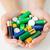 handen · batterijen · hoop · recycling - stockfoto © dolgachov