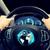 közelkép · férfi · vezetés · autó · tábla · számítógép - stock fotó © dolgachov