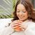 mujer · taza · brillante · Foto · feliz · belleza - foto stock © dolgachov