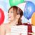 mooie · tiener · meisje · verjaardagsfeest · geschenk · heldere - stockfoto © dolgachov