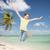 подростка · девушка · прыжки · пляж · шаров · день · время - Сток-фото © dolgachov