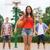 gruppo · sorridere · adolescenti · giocare · basket - foto d'archivio © dolgachov