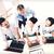 grupo · de · personas · de · trabajo · laptops · oficina · negocios · Foto - foto stock © dolgachov