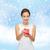 驚いた · 幸せ · 女性 · 赤いドレス · 風船 - ストックフォト © dolgachov
