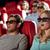 vrienden · kijken · horror · film · 3D · theater - stockfoto © dolgachov