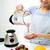 sorrindo · tremer · casa · alimentação · saudável · cozinhar - foto stock © dolgachov