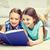 écolières · apprentissage · maison · ensemble · salon · livres - photo stock © dolgachov