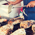 közelkép · kezek · wok · utca · piac · főzés - stock fotó © dolgachov
