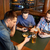 vrienden · smartphones · bier · bar · pub · mensen - stockfoto © dolgachov