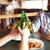 glücklich · männlich · Freunde · trinken · Bier · bar - stock foto © dolgachov