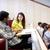 grupo · estudantes · palestra · ouvir · educação - foto stock © dolgachov