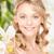 bela · mulher · orquídea · flor · quadro · mulher · natureza - foto stock © dolgachov