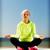 stuoia · di · yoga · vista · laterale · sorridere · giovani - foto d'archivio © dolgachov
