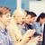 studenten · smartphones · onderwijs · school · mensen - stockfoto © dolgachov