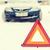 closeup of warning triangle and car stock photo © dolgachov