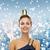 улыбающаяся · женщина · вечернее · платье · корона · люди · праздников - Сток-фото © dolgachov