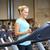 glimlachende · vrouw · tredmolen · gymnasium · sport · fitness - stockfoto © dolgachov