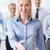 zakenvrouw · afspraak · schrijven · kalender - stockfoto © dolgachov