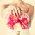 menyasszony · tart · virágcsokor · mutat · gyűrű - stock fotó © dolgachov