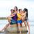 glimlachend · vrienden · vergadering · zomer · strand · vriendschap - stockfoto © dolgachov