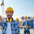 építők · mutat · ujj · építkezés · üzlet · épület - stock fotó © dolgachov
