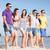 groep · gelukkig · vrienden · lopen · strand · zomer - stockfoto © dolgachov
